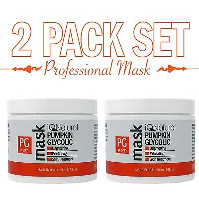 Alpha Hydroxy Mask (12% Glycolic Acid Peel Pumpkin Exfoliate Alpha Hydroxy Acid Enzyme Mask 5oz X2 )