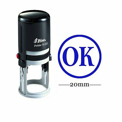 Ok Round Self Inking Rubber Stamp Custom Personalised Teachers Stamps-shiny-r4b