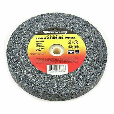 36-Grit Forney 72401 Bench Grinding Wheel Vitrified with 1-Inch Arbor 6-Inch-by-3//4-Inch