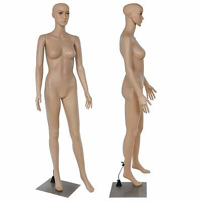 Full Body 68.9 Height Female Mannequin Display Head Turns Dress Form Wbase