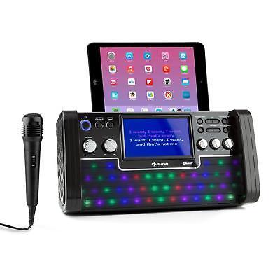 Karaoke Anlage Maschine Set Musikanlage Lautsprecher CD Player LED TFT Screen