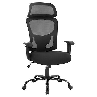 Big And Tall Office Chair 400lbs Wide Seat Executive Desk Chair With Lumbar