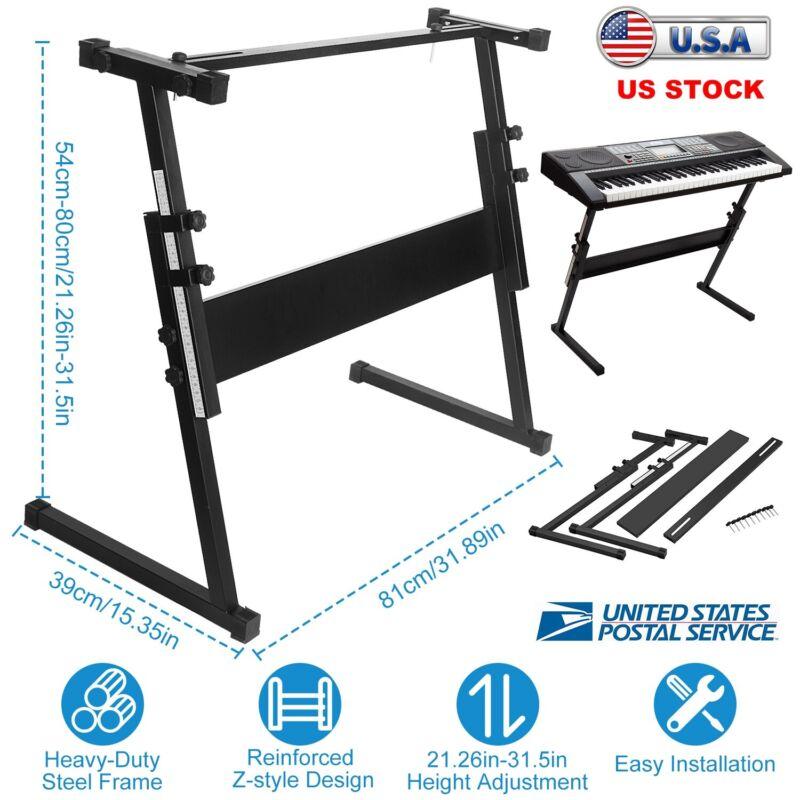 Keyboard Stand Z Style Type Adjustable - Electronic Piano Organ Rack Heavy Duty