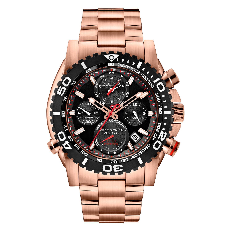 Bulova Men's Precisionist Chronograph Black Dial Bracelet 47