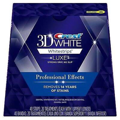 Crest 3D White Whitestrips Luxe Professional Effects 20 Strips 10 Pouch No Box
