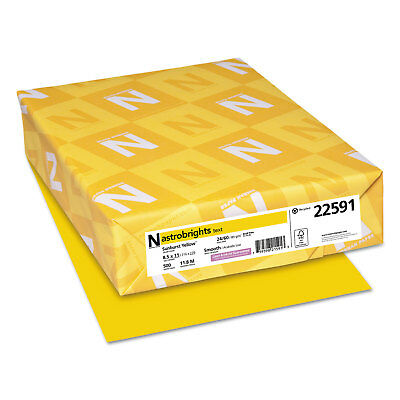 Neenah Paper Color Paper 24lb 8 12 X 11 Sunburst Yellow 500 Sheets 22591