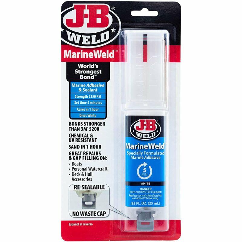 J-B Weld 50172 MarineWeld Marine Adhesive Epoxy Syringe  25ml, 1 Pack