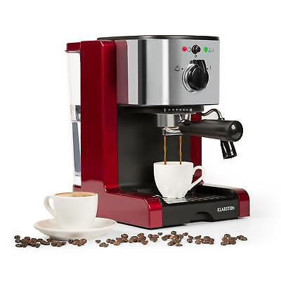 Espresso coffee Machine Electric Maker 6 cups 20 Bar 1350W Milk Frother Home Red