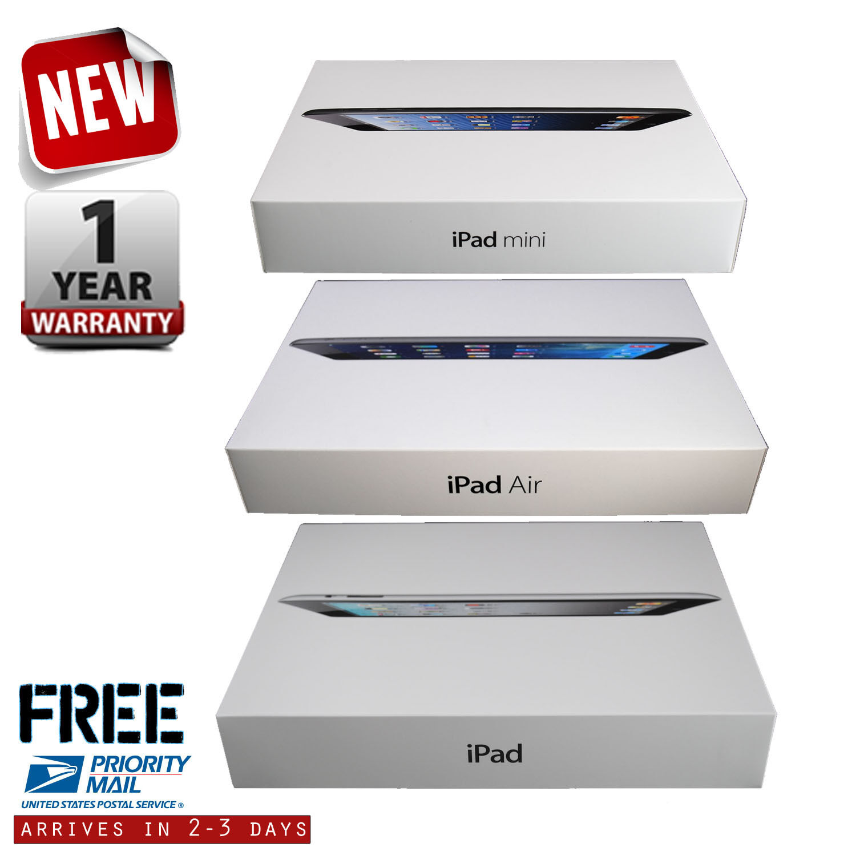 Tablet - New Apple iPad Air-mini-1-2-3-4 128GB-64GB-32GB-16GB Wi-Fi+4G 9.7in/7.9in Tablet