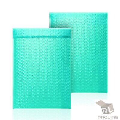 50 #000 4x8 Tiffany Blue Poly Bubble Envelopes Self-Sealing Shipping Mailers