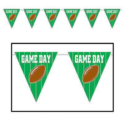 Tailgate Superbowl Football Party GAME DAY decoration Flag PENNANT BANNER 12 ft ](Superbowl Party Decor)