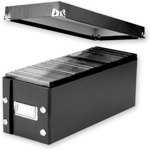 CD Storage Rack Disk Box Holder Case Media Display Space Store Organizer Black