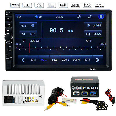 "7"" MP5 FM Player Bluetooth Car Stereo Radio Double 2 DIN HD Touch Screen USB"