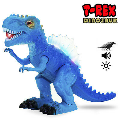 Walking Dinosaur T Rex Figure With Lights  Sound Real Movement Boys Girls Toys