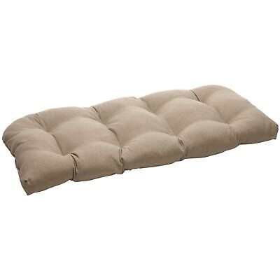 Pillow Perfect Indoor/Outdoor Taupe Textured Solid Wicker Lo