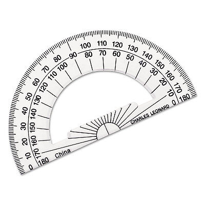 Charles Leonard Open Center Protractor Plastic 4