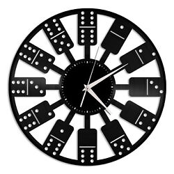 Domino Vinyl Wall Clock Unique Gift for Friends Home Living Room Decoration