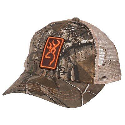 best website 027b3 a80b3 Browning Dry Creek Trucker Hat Conway Tan Mesh Back Baseball Cap RTX Orange  NEW