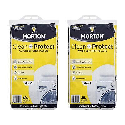 Morton Salt Sodium Chloride Water Softener Pellets 40 Pounds 2 Pack