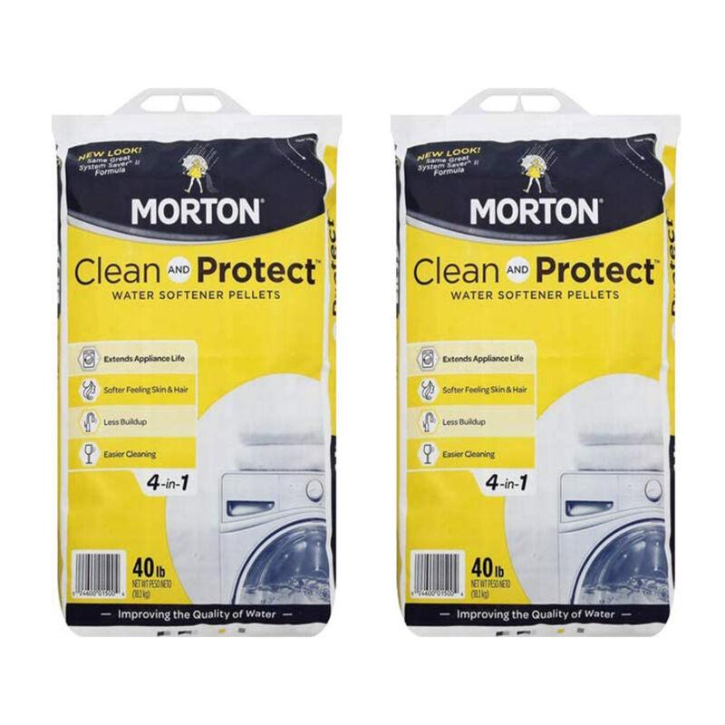Morton Salt Sodium Chloride Water Softener Pellets, 40 Pounds (2 Pack)