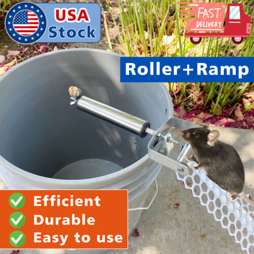 Stainless Steel Mice Rats Mouse killer Roll Trap log Grasp Rolling Roller+Ramp