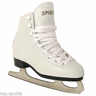 CONCEPT SPIRIT ICE FIGURE SKATES SYNTHETIC LEATHER GIRLS & LADIES UK SIZES
