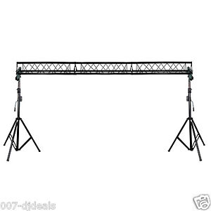 PROX T-LS35C Crank UP lighting Stand Triangle Truss 15' span 10' High MOBILE DJ