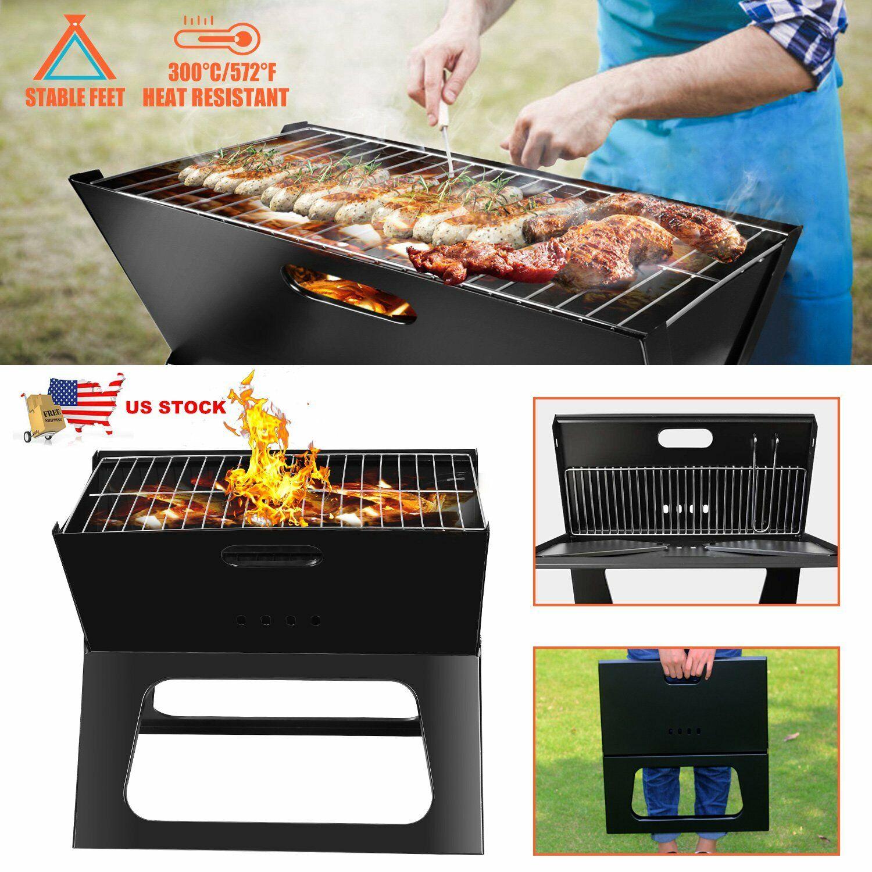 Foldable Compact Charcoal Barbecue BBQ Grill Stove Shish Kab