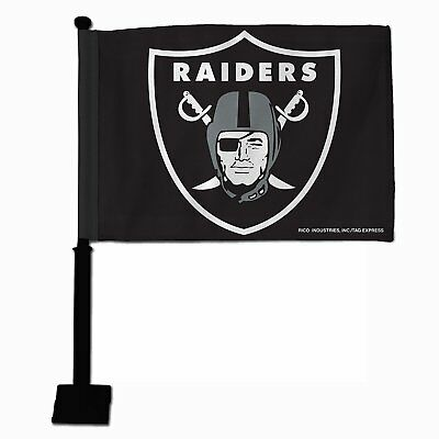 - NFL Oakland Raiders Car Flag, Black Pole