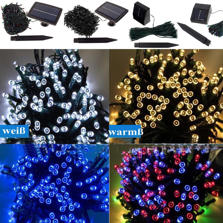 100 500 led solar lichterkette weihnachten dekoration garten beleuchtung de ip44 ebay. Black Bedroom Furniture Sets. Home Design Ideas