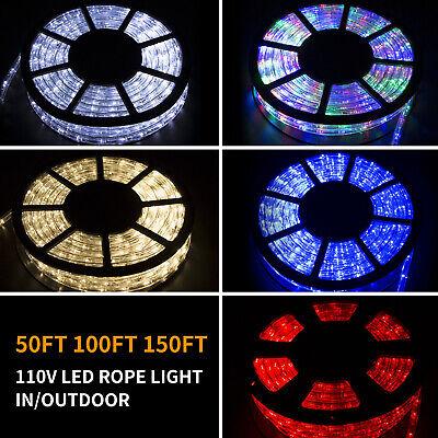50/100/150FT LED Rope Light Strip Indoor Outdoor Waterproof Decorative Lights ()