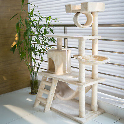 Kinbor Cat Tree Condo House Pet Tower Play Scratch Post Furniture Kitten Toy New