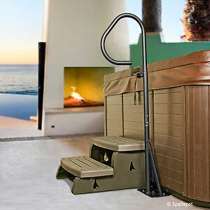 Hot Tub Handrail - Spa Side Safety Rail w/Slide-Under Mounting Base by Guardian
