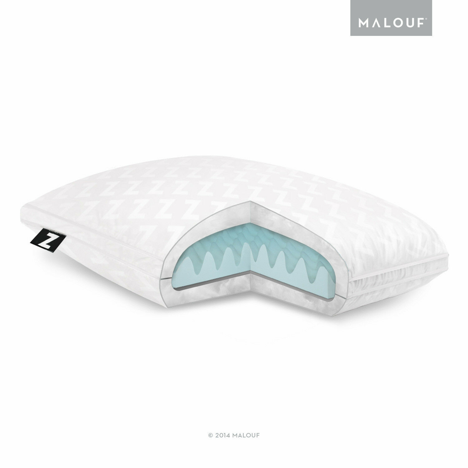 Z Gel Convolution Bed Pillow - Back and Neck Support - Queen