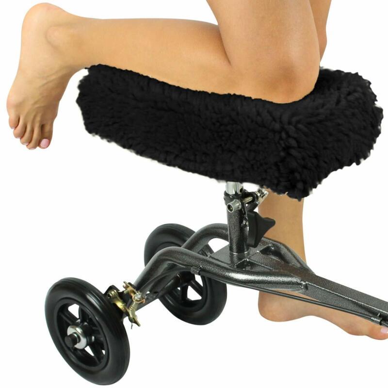 Vive Knee Walker Pad Cover - Plush Synthetic Faux Sheepskin