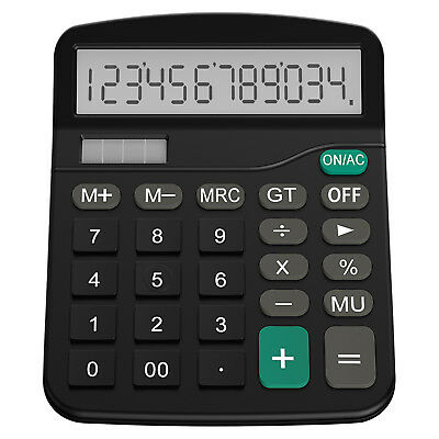 Helect 1001 Calculator Standard Function Desktop Calculator with LCD Display