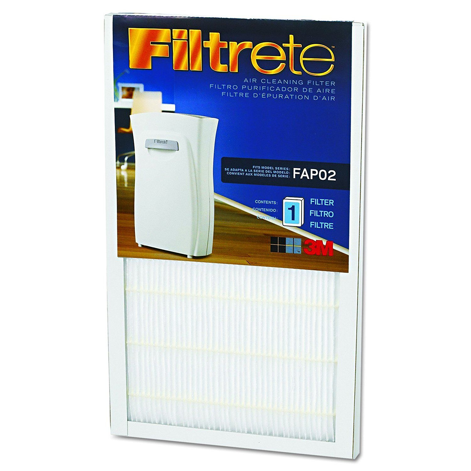 Filtrete 3M HEPA Filters pair Model FAP01 and FAP02, new, wrapped