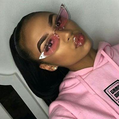Small Cat Eye Rectangular Sunglasses Color Translucent Frame Women Fashion   (Cat Eye Color)