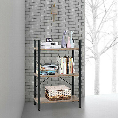 3 Tier Wood Shelving Bookcase Bookshelf Display Shelf Storage Rack Furniture