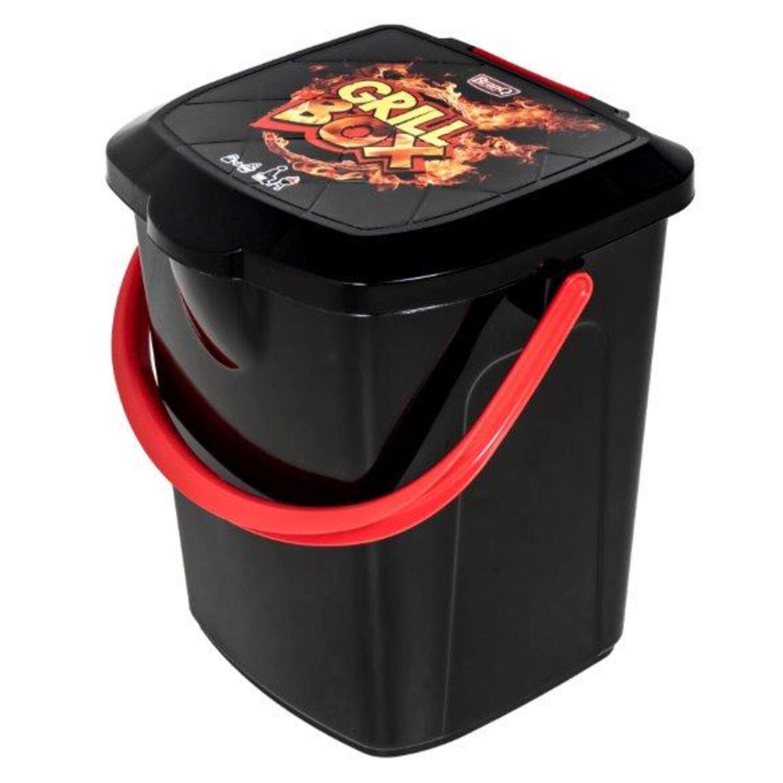 Grill Eimer 22L Hocker bis 130kg Holzkohle Grill Behälter Box Behälter BranQ NEU