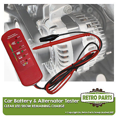 Car Battery & Alternator Tester for De Tomaso. 12v DC Voltage Check
