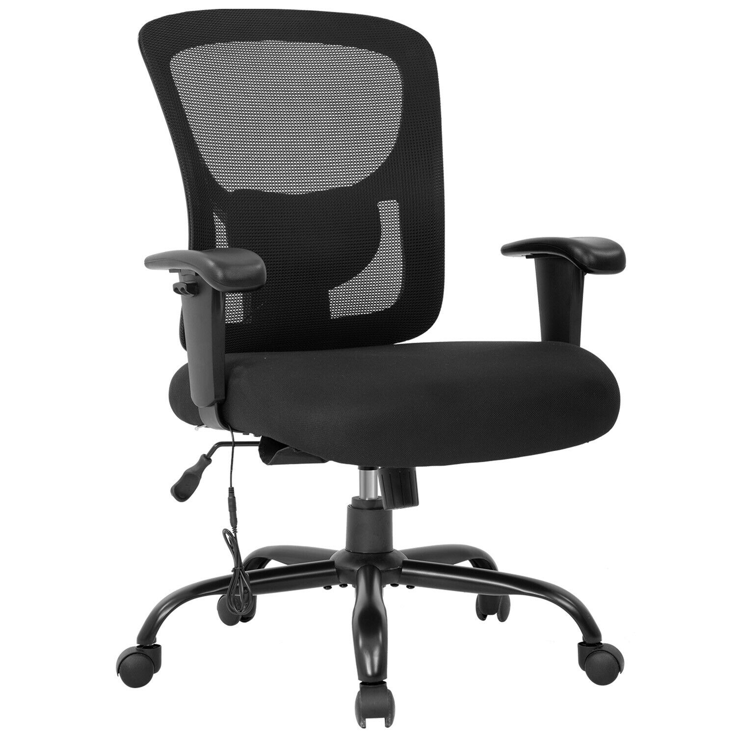 Big and Tall Office Chair 400lbs Wide Seat Mesh Desk Chair Massage Rolling Swive Business & Industrial