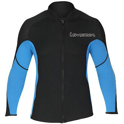 Men Wetsuits Jacket Long Sleeve Front Zip Neoprene Wetsuits Top for Diving -
