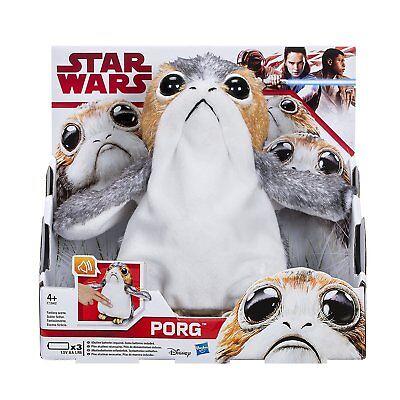 Hasbro Star Wars The Last Jedi Talking Porg Electronic Plushie Plush Doll Toy