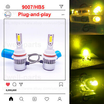 Halloween 9 Part 1 (Super Bright 2x 9007 HB5 55W LED Headlights Bulbs Kit/DRL 3000K YELLOW HID)
