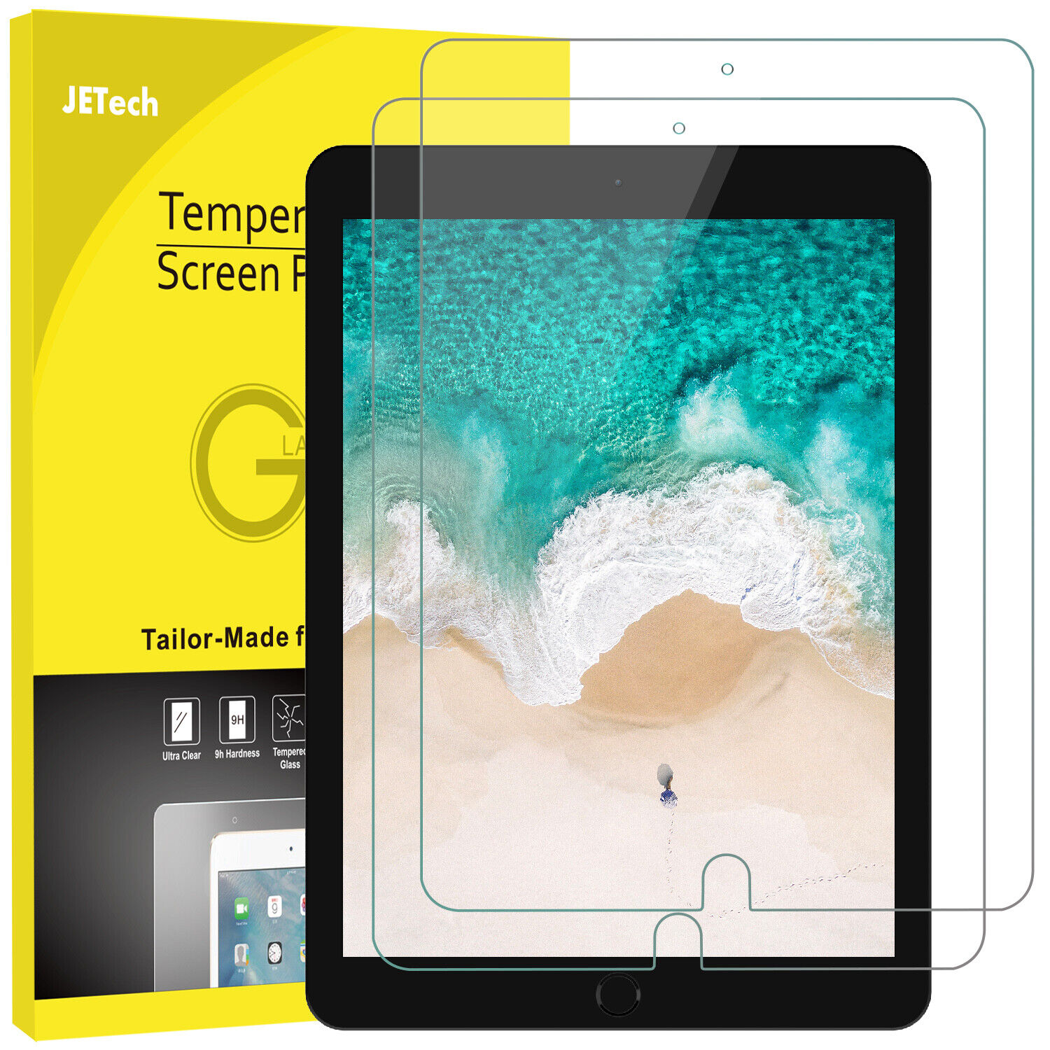 JETech Screen Protector for Apple iPad Pro 10.5-Inch 2017
