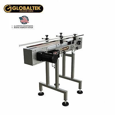 Globaltek 4x4.5 Ss Sanitary Raised Bed Conveyor With Table Top Plastic Belt