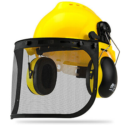 Professional Safety Helmet 4-in-1 Construction Hard Hat Ear Face Protection