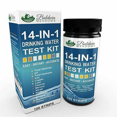 14-in-1 Drinking Water Test Kit - Best Water Quality Test for Well & Tap