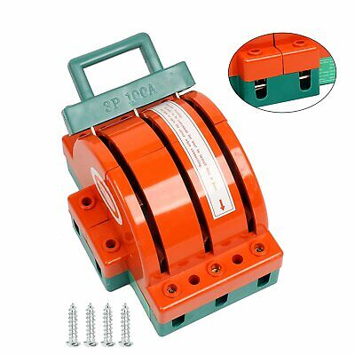 Double Throw 3 Pole Circuit Breaker Disconnect Knife Switch 100amp Safety Orange